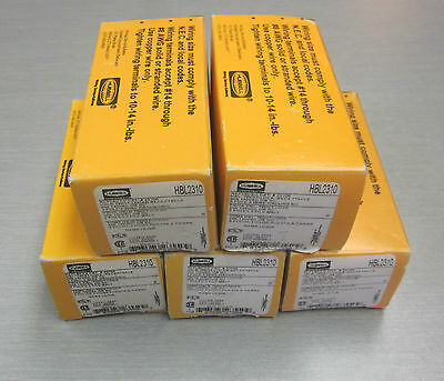 Hubbell HBL2310 20amp 125v 2p3w Receptacle (LOT OF 5)