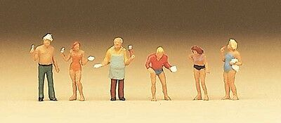 Preiser N scale Grill Party Bar-B-Q figure set 79073