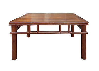 Chinese Ming Style Round Legs Square Coffee Table cs1504