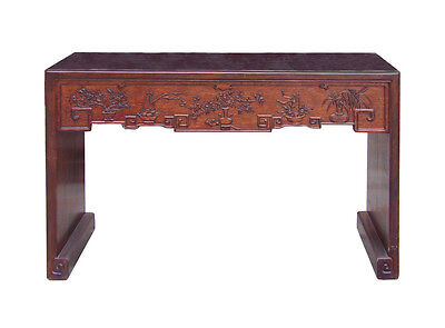 Chinese Relief Dimensional Carving Console Altar Table cs1510