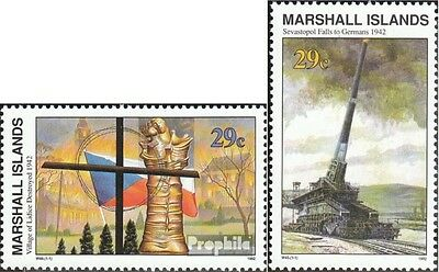 Marshall-Islands 430,431 unmounted mint / never hinged 1992 History of II. world