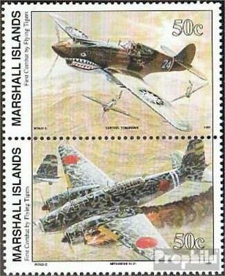 Marshall-Islands 392-393 vertical Couple unmounted mint / never hinged 1991 Hist