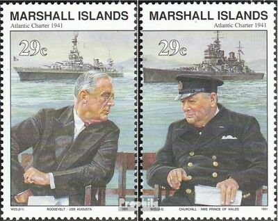 Marshall-Islands 370-371 unmounted mint / never hinged 1991 History of II. world