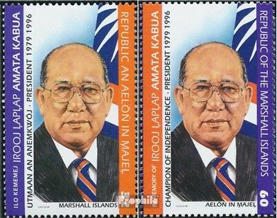 Marshall-Islands 784-785 unmounted mint / never hinged 1997 President Amata Kabu