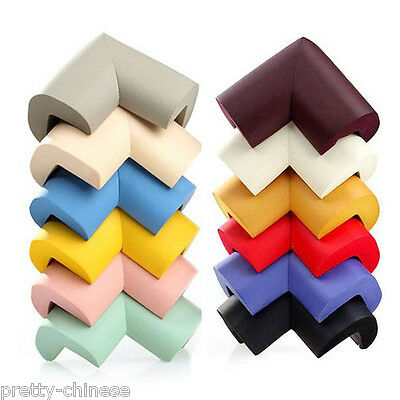 4 x Baby Child Soft Safety Corner Edge Cushion Desk Table Cover  Protection Pad