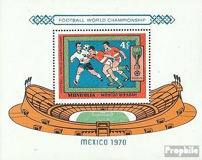 Mongolia block22 unmounted mint / never hinged 1970 Football-WM ´70, Mexico
