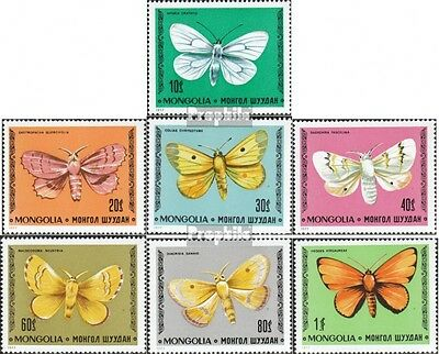 Mongolia 1099-1105 unmounted mint / never hinged 1977 Butterflies