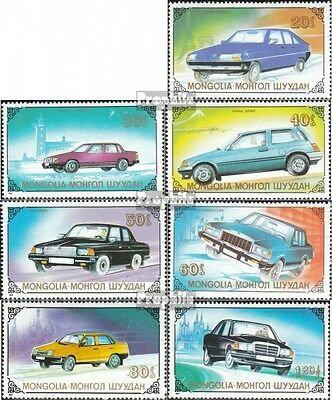 Mongolia 2065-2071 unmounted mint / never hinged 1989 Automobile