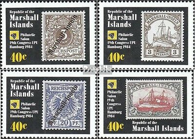 Marshall-Islands 15-18 unmounted mint / never hinged 1984 universal postal congr