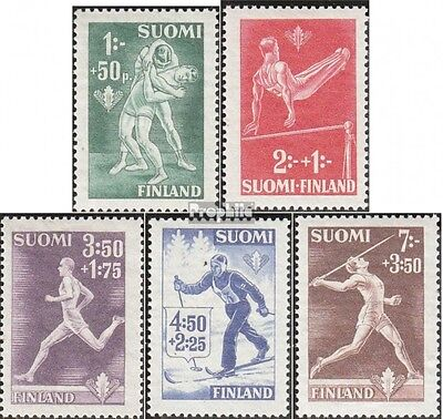 Finland 286-290 fine used / cancelled 1945 Sports