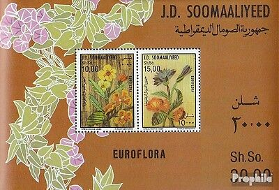 somalia block20 unmounted mint / never hinged 1986 flower exhibition