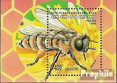 Congo (Brazzaville) block125 unmounted mint / never hinged 1994 Insects+Arachnid