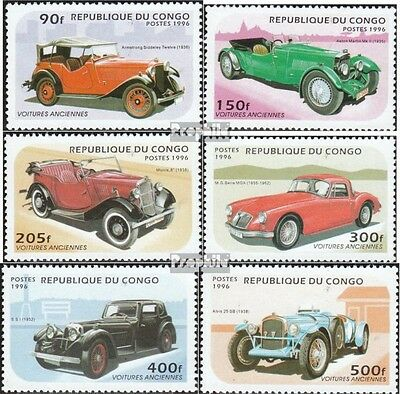 Congo (Brazzaville) 1462-1467 unmounted mint / never hinged 1996 Old Cars