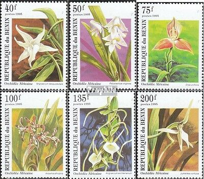 Benin 710-715 unmounted mint / never hinged 1995 Orchids