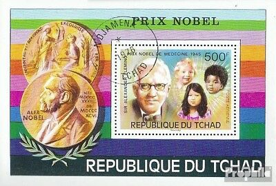 Chad block67 fine used / cancelled 1976 75 years nobel prizes