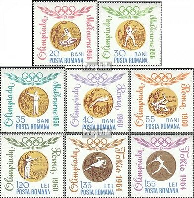 Romania 2345-2352 fine used / cancelled 1964 Gold Medalists