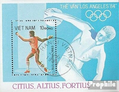Vietnam block20 fine used / cancelled 1983 Olympics Summer ´84