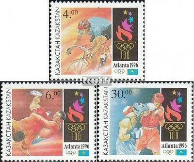 kazakhstan 123-125 unmounted mint / never hinged 1996 Olympics Games the Modern