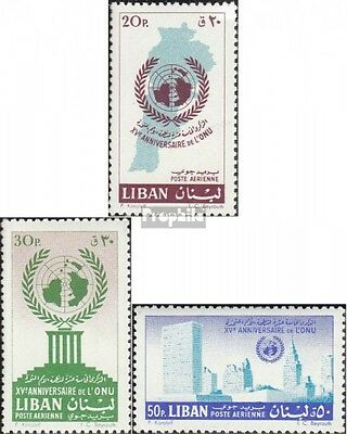 lebanon 709I A-711I A unmounted mint / never hinged 1961 15 years UN