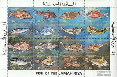 Libya 1138-1153 ZD-archery unmounted mint / never hinged 1983 Fish