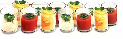 BOX OF 12 x GLASS APPETIZER SHOT GLASSES DESSERT COCKTAIL FRUIT BOWLS