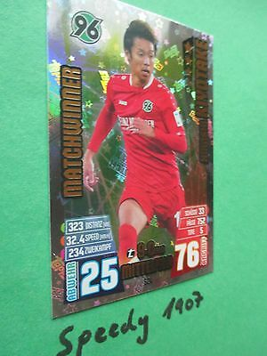 Topps Match Attax EXTRA 15 16 Matchwinner 624 Kiyotake Hannover  2015 2016