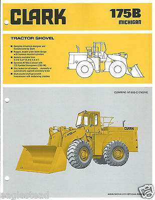 Equipment Brochure - Clark - Michigan 175B Loader Cummins Engine c1980 (E3096)