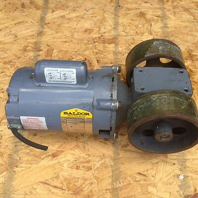 1/4 HP Baldor Motor 56C  115 208 230 Volt 1725 RPM  w/ Boston Gear box