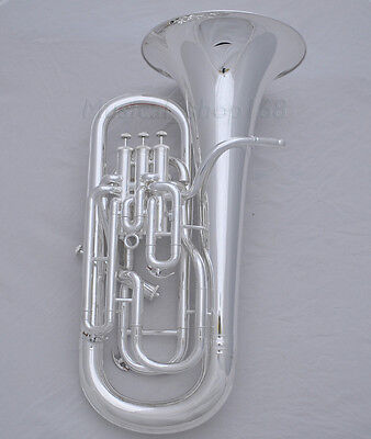 Professional Silver Plated Bb Compensating system Euphonium horn Free mouthpiece