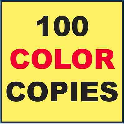 """100 Custom Printed Flyers 8.5"""" x 11"""" Color Copies Printing 2 Sides"""