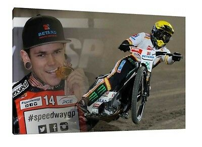 Tai Woffinden 30x20 Inch Canvas - Speedway Framed Picture Print Art