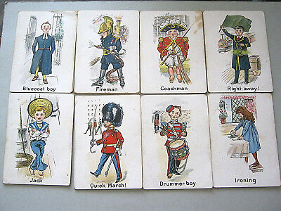 Playing Cards Antique Rare Faulkeners Snap Card Set Of 56 14 Sets Of 4 Hand Cut