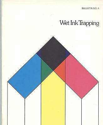 1980 Warren Printing Paper Company book on Wet Ink Trapping @ offset print press