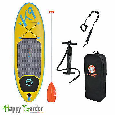 Pack stand up paddle gonflable K9 avec pompe haute pression, pagaie, sac de rang