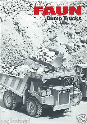 Equipment Brochure - Faun - K24.2 et al - Dump Trucks (E3101)