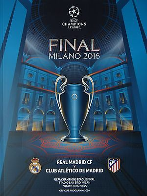 off Programme UCL Final 2016 Atletico Madrid vs Real Madrid