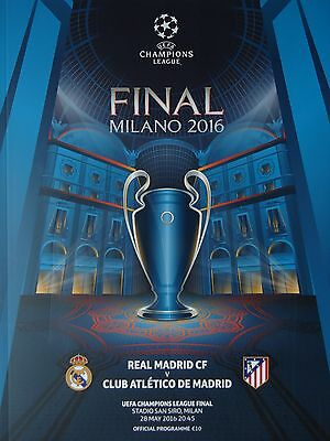Programm UEFA CL Finale 2016 Atletico Madrid - Real Madrid