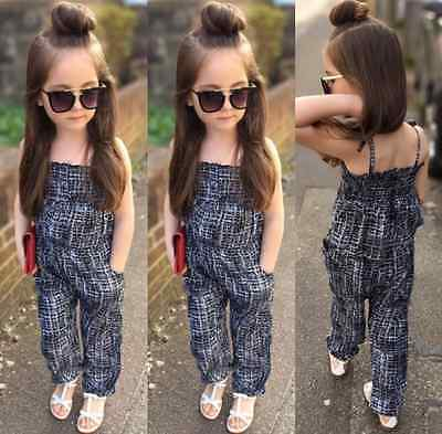 Fashion Toddler Kids Girls Backless Overalls Romper Jumpsuit Playsuit Clothes CA
