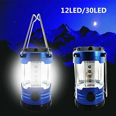 12 / 30LED Portable Camping Torch Battery Operated Lantern Night Light Tent Lamp