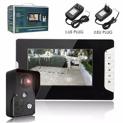 7'' LCD Video Doorbell Door Camera Intercom IR Night Vision Home Security System