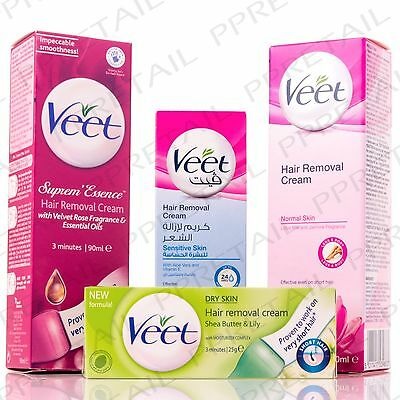 VEET HAIR REMOVAL CREAM FOR DRY/NORMAL/SENSITIVE SKIN 3-5 Minute Leg/Body/Bikini
