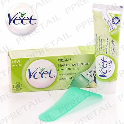 VEET 3-MINUTE HAIR REMOVAL CREAM For Dry Skin Shea Butter & Lily Fragrance 25g