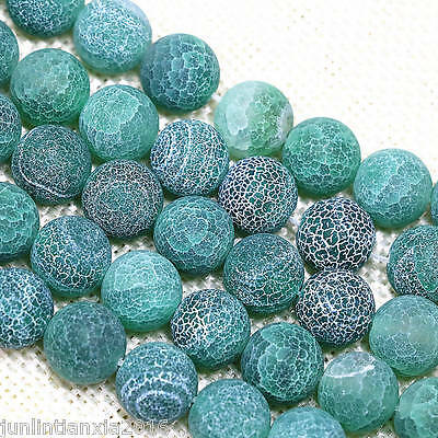 Huge 12mm Green Dream Fire Agate Gemstone Round Loose Beads 15''