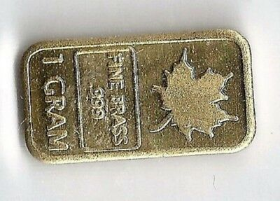 BULLION - Mini - 1 Gram .999 Brass - Maple Leaf