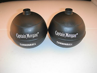 Captain Morgan Cannon Ball 16oz Drink Cup Pirate Promo Plastic Party Set of 2