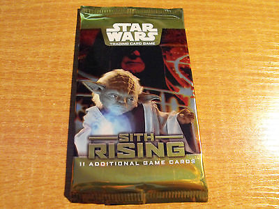 Star Wars Tcg Sith Rising Sealed Pack Of 11 Cards