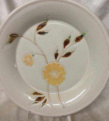 """Sonoma Home Mendocino Buttercup Set Of 3 Dinner Plates 11 1/2"""" Yellow Flowers"""