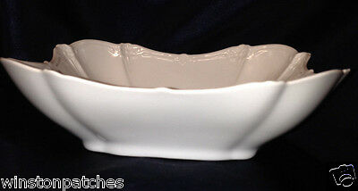 """Tirschenreuth Germany Baronesse Square Vegetable Bowl 8"""" All White"""