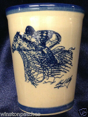 Louisville Stoneware Kentucky Derby Mint Julep Cup Tumbler Woodford Reserve 2007