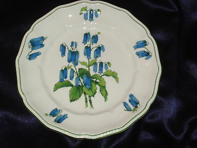 Crown Staffordshire Somerset Salad Plate Blue Flowers